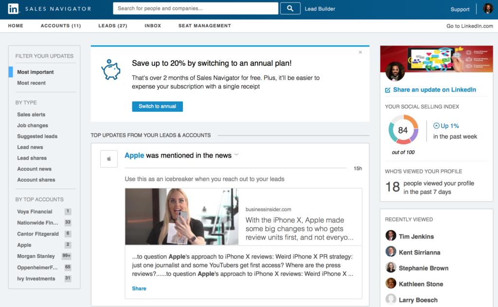 LinkedIn social selling skills